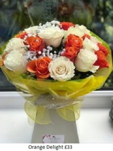 Orange Delight| Florists Widnes | Flowers by Carol