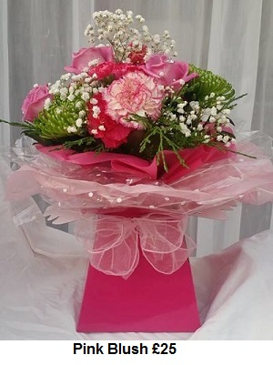 Pink Blush| Florists Widnes | Flowers by Carol