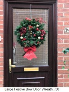 Festive Bells Door Wreath| Florists Widnes | Flowers by Carol