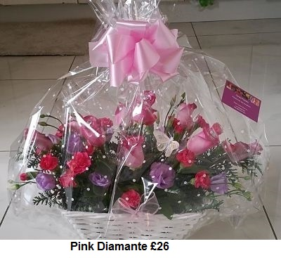 Pink Diamante| Florists Widnes | Flowers by Carol