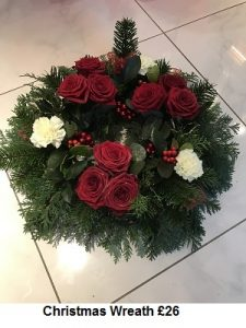 Christmas Wreath| Florists Widnes | Flowers by Carol