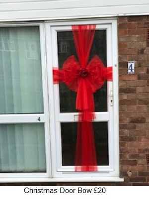 Hereu0027s some snaps of what we do & Christmas Door Bows WidnesOrder your fitting now Widnes areas