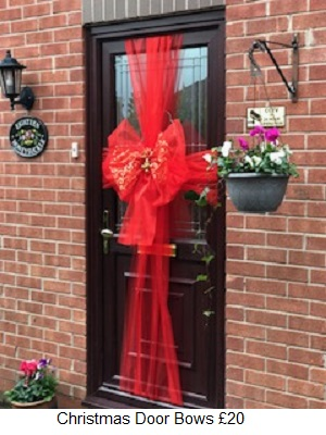 Hereu0027s some snaps of what we do & Christmas Door Bows WidnesOrder your fitting now Widnes areas pezcame.com