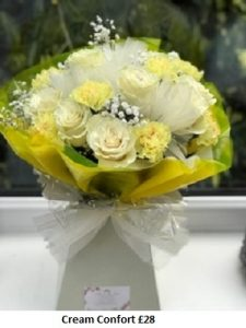 Cream Confort| Florists Widnes | Flowers by Carol