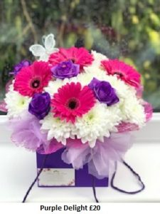 Purple Delight| Florists Widnes | Flowers by Carol