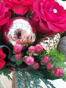 Christmas Table Decko| Florists Widnes | Flowers by Carol