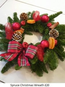 Spruce Wreath| Florists Widnes | Flowers by Carol